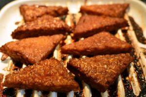 Henrys grilled orange ginger tempeh