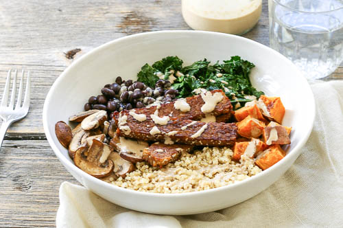 Tempeh Quinoa Power Bowl by Chelsea's Healthy Kitchen
