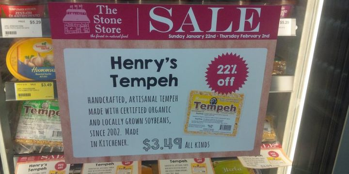 Henry's Tempeh on sale at The Stone Store Natural Foods